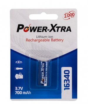 POWER-XTRA 3.7V 16340 700 MAH PİL